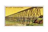 Lethbridge Viaduct Wills's Cigarette Trade Card Giclee Print