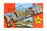 Greetings from Fort Worth, Texas Giclee Print