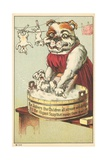 It's the Illigant Soap That Makes Them So White Trade Card Giclee Print