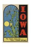 Iowa Travel Decal Giclee Print