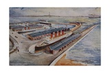 Cunard Liner in Liverpool Giclee Print