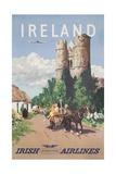 Ireland Travel Poster Reproduction procédé giclée