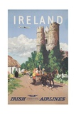 Ireland Travel Poster Gicléedruk