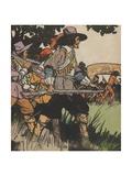 European Explorers in New World Giclee Print