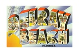 Greetings from Delray Beach, Florida Giclee Print