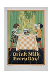 Drink Milk Every Day Poster Giclee Print