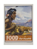 Food for Health Poster Giclee Print