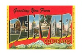 Greetings from Denver, Colorado Giclee Print