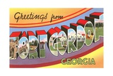 Greetings from Fort Gordon, Georgia Giclee Print