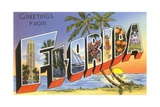 Greetings from Florida Giclee Print