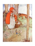 Little Red Riding Hood in the Forest Giclee Print