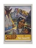 Sleep for Health Poster Giclee Print
