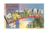 Greetings from Michigan Giclee Print