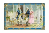 Washington and Lafayette at Mount Vernon Postcard Giclee Print