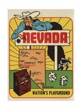 Nevada Travel Decal Wydruk giclee
