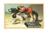 Warner's Safe Cure Trade Card with a St. Bernard and Child Giclee Print