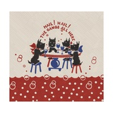Four Dogs Sitting at Table Giclee Print
