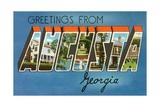 Greetings from Augusta, Georgia Giclee Print