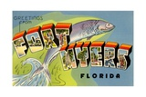 Greetings from Fort Myers, Florida Giclee Print