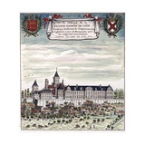 View of the Abbey of the Holy Trinity in Caen Giclee Print