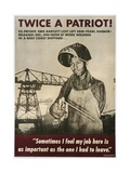 Twice a Patriot! World War II Poster Giclee Print