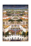 Indian Miniature Painting of a Lavish Palace Complex Giclee Print