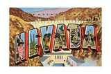 Greetings from Nevada Giclee Print