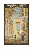 Egyptian State Railways Travel Poster Karnak Giclee Print
