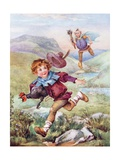 Jack and the Beanstalk Illustration Giclee Print
