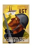L'Industria Textil De Cara a La Guerra Poster Impression giclée