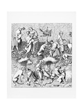 Illustration of the Care and Diseases of Hunting Dogs after Gaston Phoebus Giclee Print