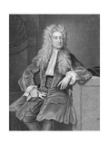 Engraved Portrait of Sir Isaac Newton Giclee Print