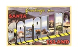 Greetings from Santa Catalina Island, California Giclee Print