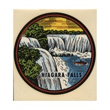 Niagara Falls Travel Decal Giclee Print