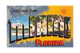 Greetings from Miami, Florida Giclee Print