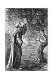 Illustration of Saint Columba Blessing the Apples Giclee Print