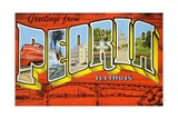 Greetings from Peoria, Illinois Giclee Print