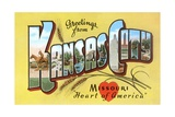 Greetings from Kansas City, Missouri Giclee Print