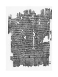 Papyrus Roll with Epistle to the Hebrews Giclee Print