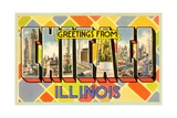 Greetings from Chicago, Illinois Giclee Print