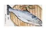 Japanese Matchbox Label with a Fish Impression giclée
