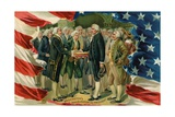 Washington's Inauguration as President Postcard Giclee Print