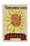 Kansas Travel Decal Giclee Print