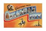 Greetings from Oklahoma City, Oklahoma Giclee Print