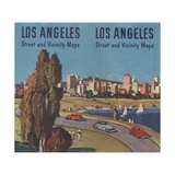 Illustration for Los Angeles Street and Vicinity Maps Giclee Print
