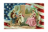 Washington's Home Life at Mount Vernon Postcard Giclee Print