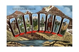 Greetings from Colorado Giclee Print