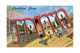 Greetings from Indiana Giclee Print