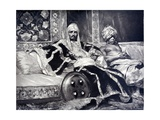 Janissary Seated Next to a Eunuch Giclee Print