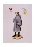 Portrait Print of Geoffrey Chaucer Giclee Print